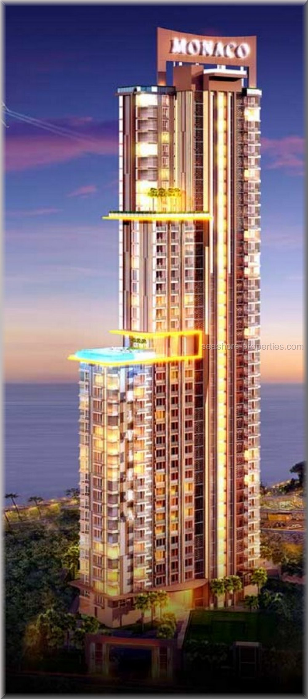 riviera monaco 2 bedrooms seaview  Condominiums till salu i Jomtien Pattaya